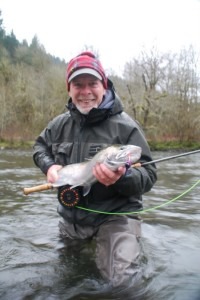This lovely fish was taken on the type 3 in a shallow tail out. The fly was un-weighted tip weighed 80 grains!!