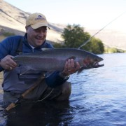 Pat Hoglund lands a monster Deschutes steelhead