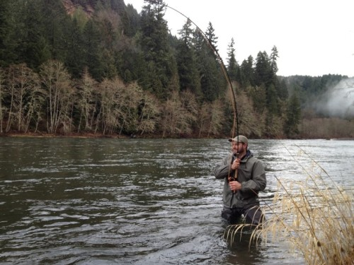 Steelhead fisihing on Sandy River