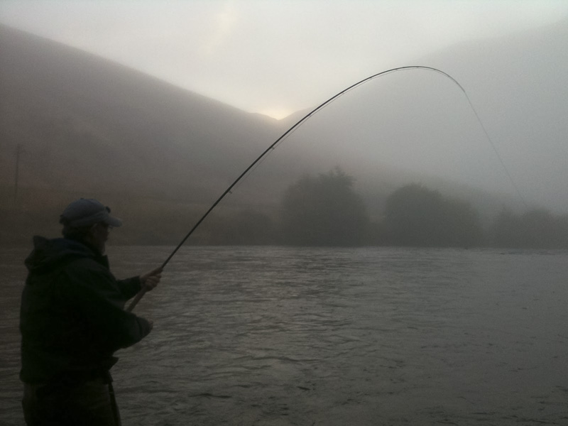 Deschutes River Morning fog. All Waters Angling Spey fishing & castin