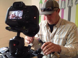 Sick Nick getting it done on camera. He ties some sweet flies.